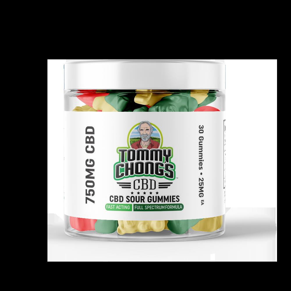 Tommy Chong's 750MG Full Spectrum CBD Sour Gummies